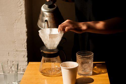 コーヒーサーバーを温める