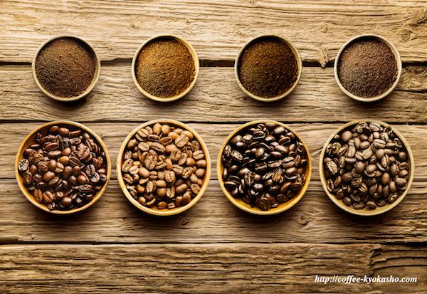 コーヒー豆の焼き加減