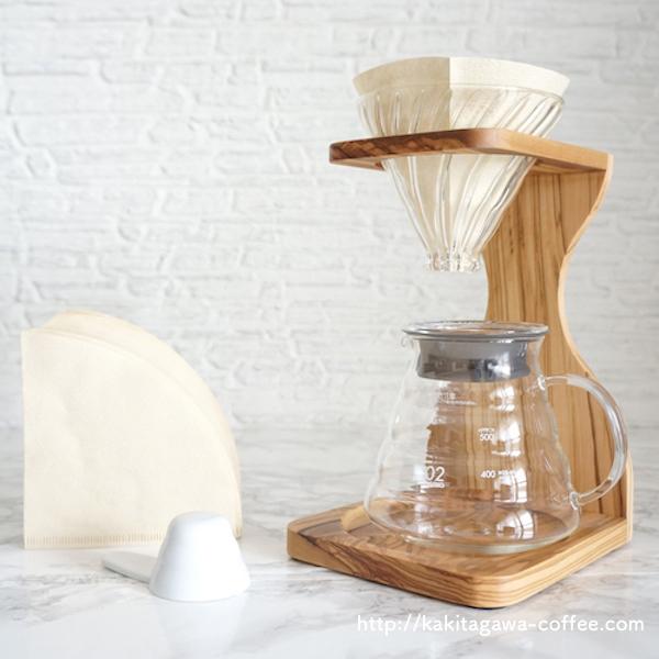 オリーブが素敵♬ ハリオ社製コーヒードリッパー&スタンド