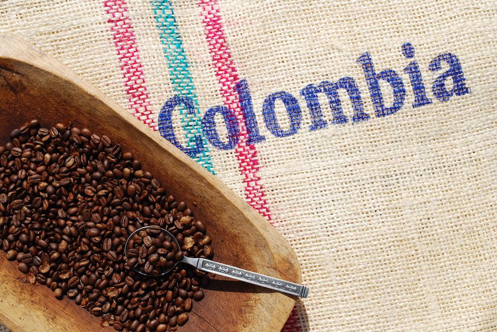 南米のコロンビアのコーヒー
