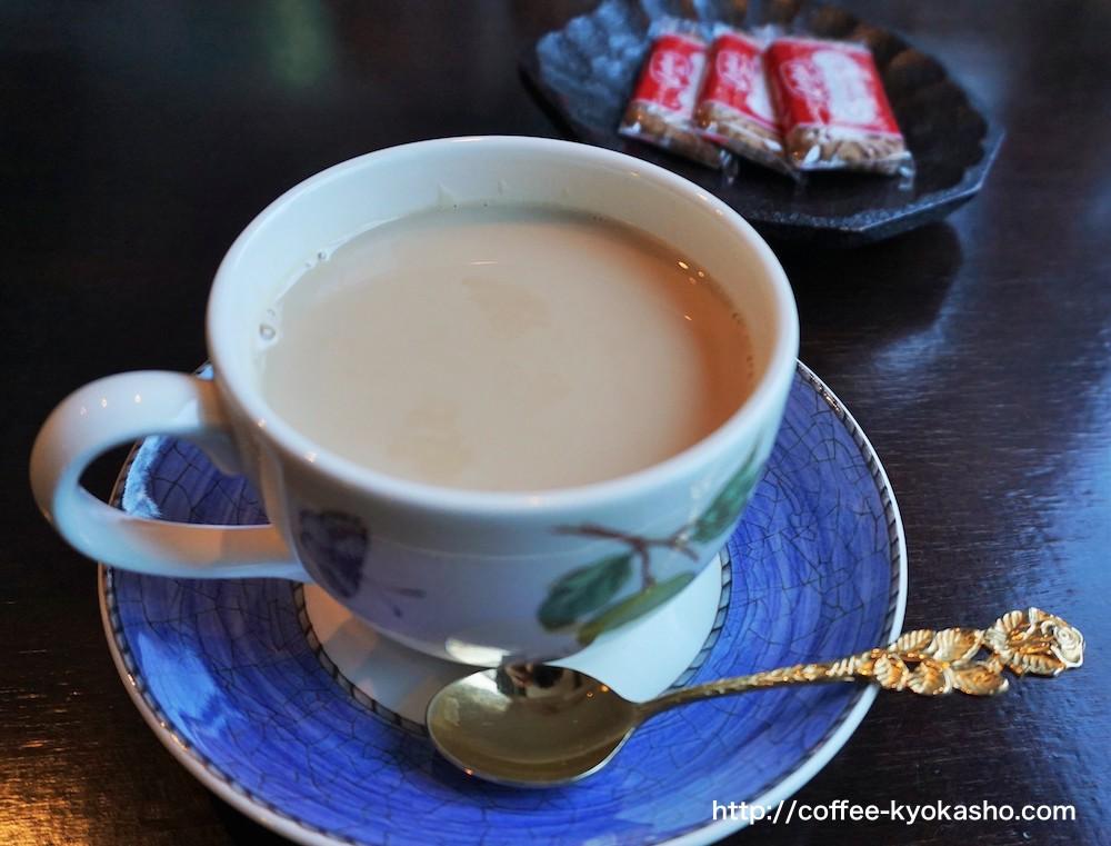 可愛い珈琲カップとカフェオレ